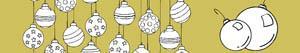kolorowanki Bombki świąteczne