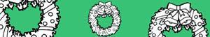 kolorowanki Wianki świąteczne i wieńce