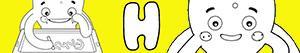 kolorowanki Imiona dla Chłopców na litere H