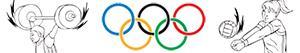 kolorowanki Sportów olimpijskich. Różne